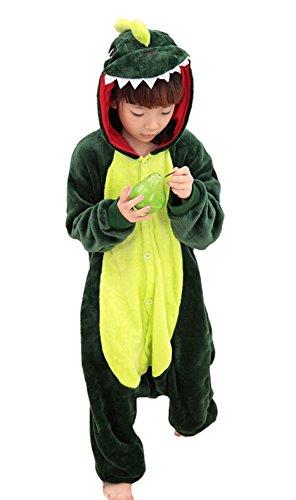 elanzug Mehrfarbig Dinosaurier (Grün) (Dinosaurier-kid Kostüme)