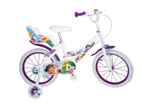 """Toimsa 1653 - Dora l'esploratrice, Bicicletta per bambina, dimensioni 16"""", da 5 a 8 anni"""