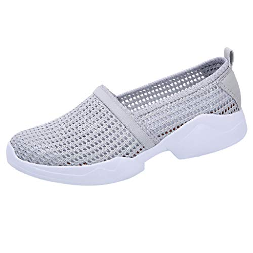 Leey Les Femmes PerforéEs Glissent sur des Baskets LéGèRes Confort Confort Glissent sur La Mode Chaussures De Course en Plein Air Chaussures De Sport Occasionnels