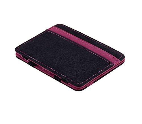 Portafoglio Magico in simili cuoio - magic wallet Credit Card Holder - porta moneta (Viola)