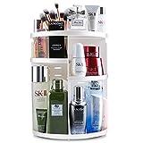 Auxmir Make Up Organizer, Beauty Kosmetik Organizer, 360°Drehbar, Schmink Aufbewahrung Kosmetikbox für Dresser Bad Schlafzimmer, Transparent