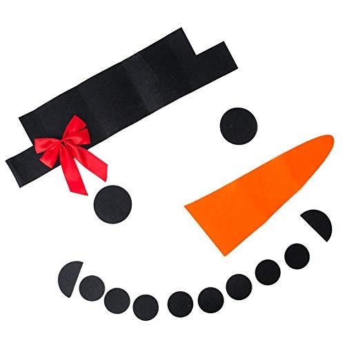 JUNERAIN 16 stücke Weihnachten Kleid Anzug DIY Filz Schneemann Bogen Hut Neujahr Outdoor Decor