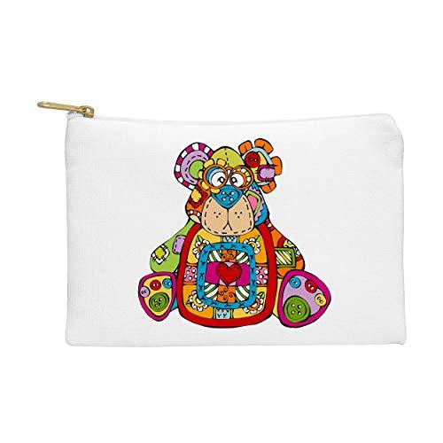 Bear Button Nose Buddies Leinwand Geldbörse Groß Herren Männer Damen Kartengeldbörse Geschenk für Männer Geschenke für Die Mädchen Junge Teenager Taschen Handtaschen -