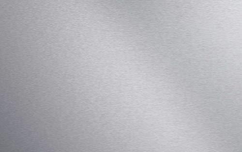 Artland Qualität I Spritzschutz Küche I Alu Küchenrückwand Herd BxH: 80x50 cm sehr schnelle und einfache Montage Uni Alu gebürstet