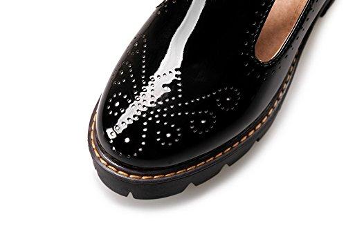 Voguezone009 Buckle Talon Femmes Toe Round Moyen Pure Shimmer qFp6qW