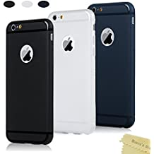 3x Cover iPhone 6,iPhone 6s Custodia Silicone Satinate Opaco Ultra Sottile - Mavis