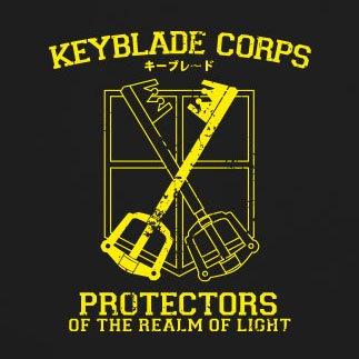 Keyblade Corps Protectors - Herren T-Shirt Schwarz