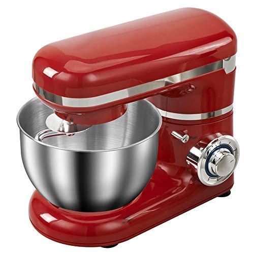 QWERTOUY 1200W 4L LED-Licht 6-Gang-Küche Elektrische Küchenmaschine Whisk Blender Kuchen Teig-Brot Mixer-Hersteller-Maschine Ständer