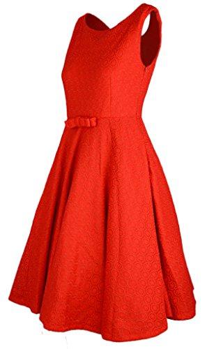 Eyekepper Robe Femme / Mademoiselle vintage des annees 1950 en robe de soiree Rouge
