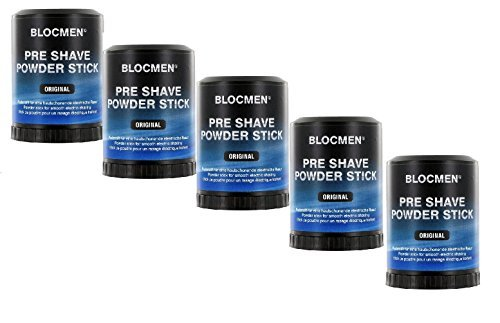 5 X BLOC MEN© Pre Shave Powder Stick original - Pre Shave Powder Stick