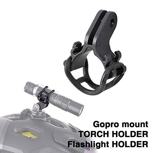 ZTTO Fahrrad-Licht-Fackel-Halter Taschenlampe Halterung für Rennrad MTB Fahrradteile angepasst für GoPro Halterung