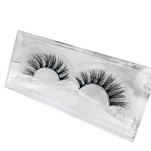 3D Falsche Wimpern YunYoud Natural Multi Layer Künstliche Wimpern Fashion Dickes Augen Lashes Cross Eye Lashes Wimpernverlängerung für Make-up (Schwarz)