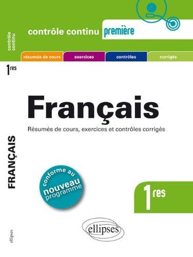 Français Premières Conforme au Programme 2011