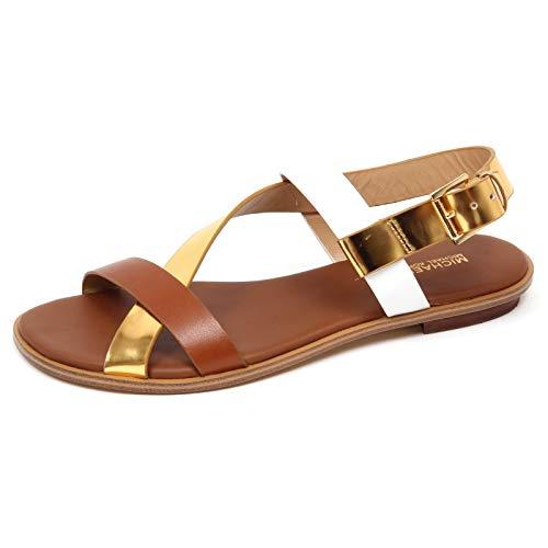Zapatos Mujeres Sandalias Michael KORS Mackay Flat Leather 40S8MCFA2L  LuggGold b0b9e5e304