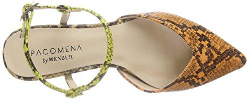 Paco Mena Aloe 2 Damen Slingback Mehrfarbig (Multi Mango/Gelb/Beige)