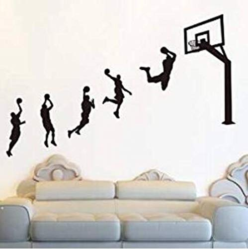 Custom Wall Stickerbasketball Dunk Wall Stickers Stickers Boys Bedroom Dormitory Bedroom Room Wall Wall Decoration Wallpaper Self-Adhesive Shots Posted About 203X130 Cm