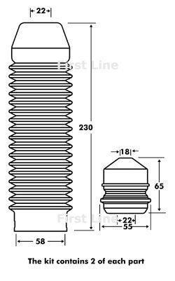 Fpk7078Firstline Strut kit de protection OE Qualité