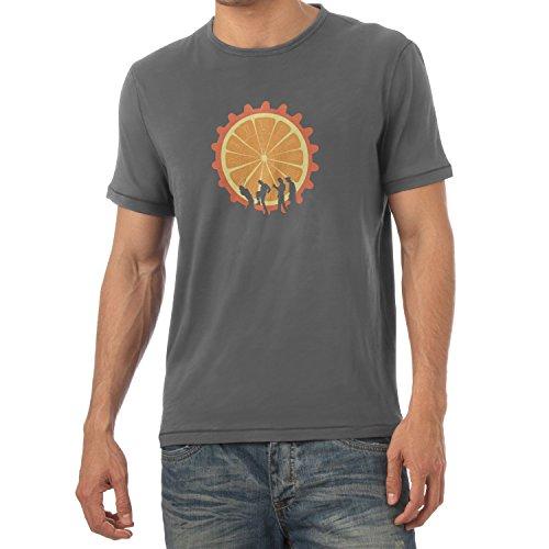 NERDO - The Orange - Herren T-Shirt, Größe S, grau