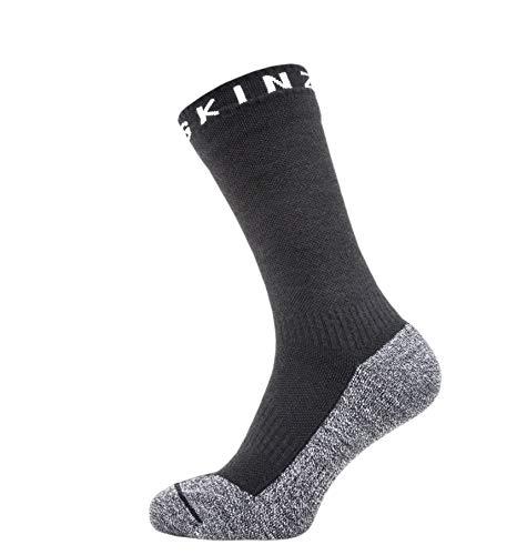 SealSkinz 147Wasserdicht, Soft Touch Mid Länge Bambus geeignet für Laufen, Radfahren, Wandern, Segeln, Camping-Multi Verwendung Socken M schwarz/grau/weiß -