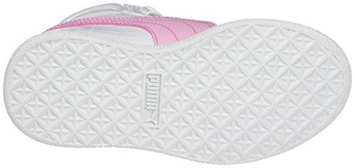 Puma Ikaz Mid Serpent V Ps, Haute Sneakers Mixte Enfant Blanc (Puma White-prism Pink 07)