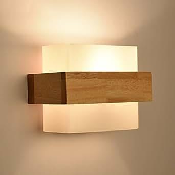 good thing wandleuchte moderne minimalistische glas holz wand lampe schlafzimmer lampe. Black Bedroom Furniture Sets. Home Design Ideas