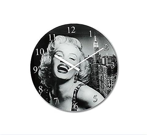 Leonardo Collection Marilyn Glas Uhr, Schwarz