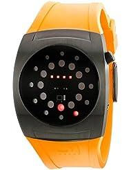 Binary THE ONE LIGHTMARE L202R3YE - Reloj digital de caballero de cuarzo con correa de acero inoxidable amarilla - sumergible a 30 metros