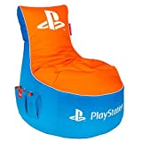 Gamewarez Playstation Bean Bag: Vivid Gaming Sitzsack, Blau-Orange, 95cm(L) x 90cm(H) x 65cm(B)