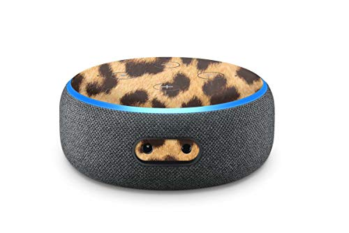 Skins4u Aufkleber Design Schutzfolie Sticker kompatibel mit Amazon Echo Dot 3.Generation Leoparden Fell