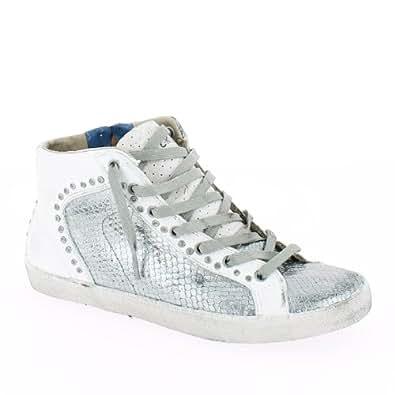 crime damen sneakers wei silber 40 schuhe handtaschen. Black Bedroom Furniture Sets. Home Design Ideas