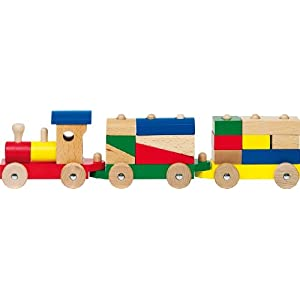 Goki – Trenino in legno porta mattoncini