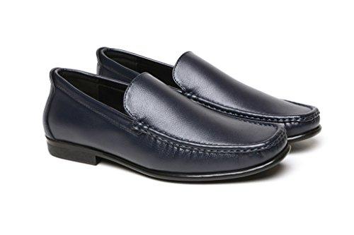 Da Uomo Casual Fashion Mocassini Da Infilare Elegante Driving Scarpe Nere,marrone o blu Navy mocassini numeri UK Navy