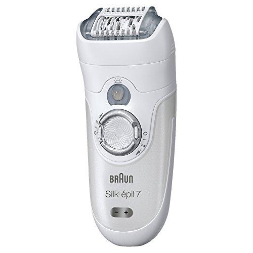 Braun Silk-épil 7 7-561 - Depiladora eléctrica inalámbrica en seco y húmedo, 6 accesorios, incluido un cabezal de afeitado y un peine de recorte