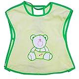 Rachna's Knot Closure Back Open T-Shirt Saliva Towel Burp Cloth Baby Feeding Bib Apron - 523 - Green - Upto 3 Years