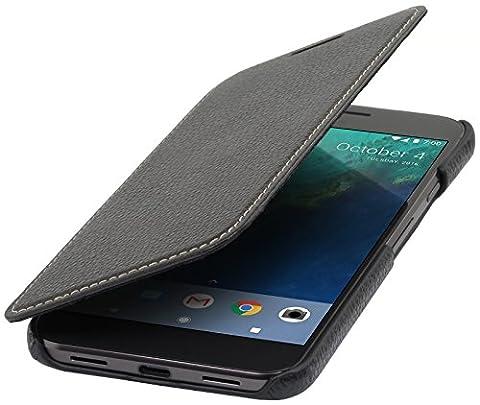 StilGut Book Type Case, Hülle Leder-Tasche für Google Pixel XL.