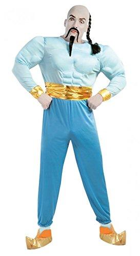 Muskulöser Flaschengeist Herren-Kostüm Aladin Tausendundeine Nacht Dschinn 1001, Größe:L (Kaufen Charakter Kostüme)