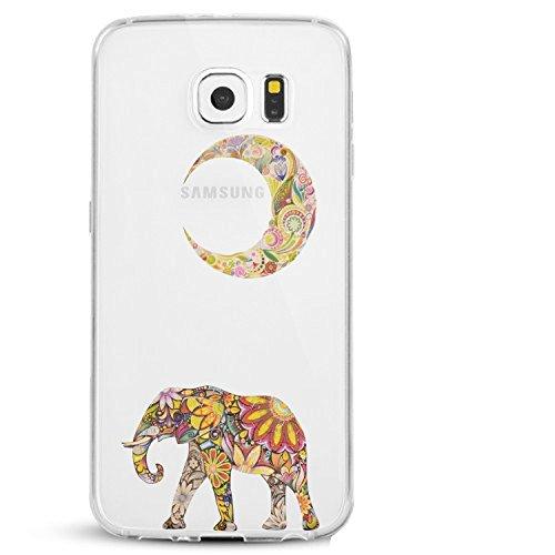 Caler Funda Galaxy S6 Edge Plus, Carcasa Silicona Transparent Protector TPU Ultra-Delgado...