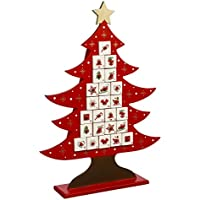 Déco Noël - Calendrier de l'avent durable en bois – Forme Sapin
