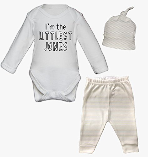 Ickle peanut buy ickle peanut products online in uae dubai littlest surname newborn baby vest pants and hat set babygrow new baby gifts newborn baby gifts personalised babywear hospital outfit negle Choice Image