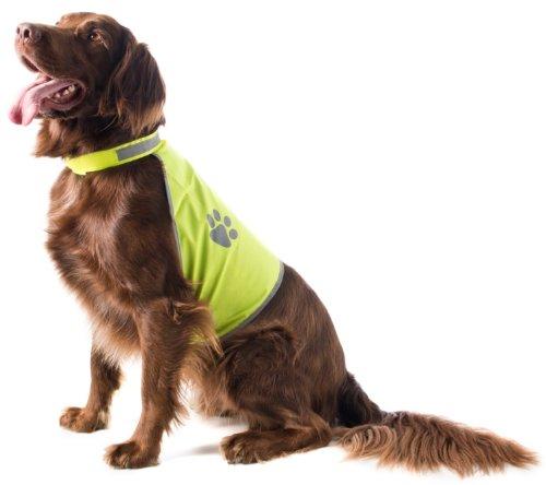 Sicherheitsweste für Hunde, neongelb, Gr. M