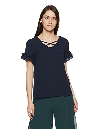 Allen Solly Women's Plain Regular Fit Shirt