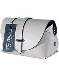 BORDERLINE - 100% Made in Italy - Embrague de Cuero Real - EVELINA P.