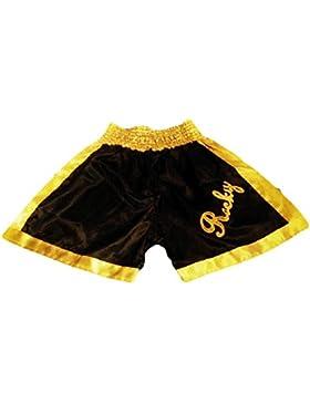 De Rocky negro/dorado diseño de bandera de Italia semental pantalones cortos de boxeo