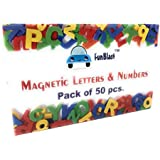 FunBlast™ Magnetic Learning Letters Alphabets And Numbers, Pack Of Premium Quality ABC, Abc And 123 Educational Magnets With Mathematical Symbol For Kids (PACK OF 50 Pcs (ABC & 123))