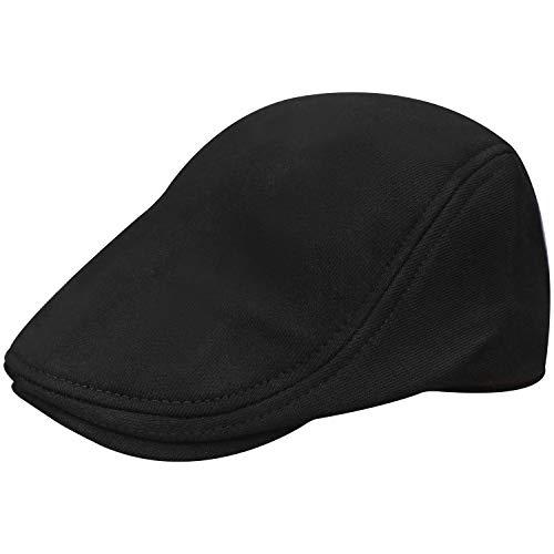 Wilhelm Sell Gorra Plana | Negro 100% algodón con Banda elástica. (01 Piezas - Negro)