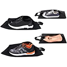 Eono Essentials Travel Shoe Bags Set of 4 (2 standard sizes +2 X-Large sizes)Lightweight and Waterproof Nylon with Zipper for Men & Women