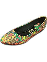 F-Gali Women's Synthetic Abstract Ballet Flats