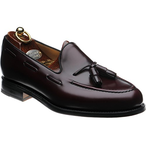 Herring aringa barcelona ii tasselled mocassini in bordeaux lucido, marrone (burgundy polished), 43