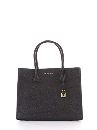 Michael Kors Damen Mercer Tote, Schwarz (Black), 12.7x21.6x23.2 Centimeters