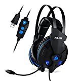 KLIM IMPACT - Casque gamer USB - Son 7.1 Surround + Isolation - Audio Haute Qualité + Fortes Basses - Micro Casque Gaming Jeux Vidéo pour PC PS4